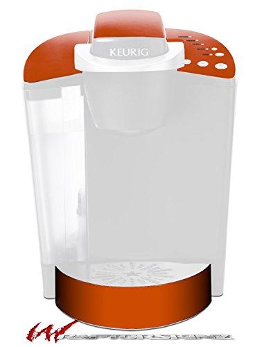 Solids Collection Burnt Orange - Decal Style Vinyl Skin fits Keurig K40 Elite Coffee Makers KEURIG NOT INCLUDED