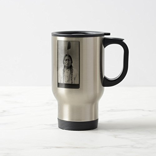 Zazzle Lakota American Indian Chief Sitting Bull Coffee Mug Stainless Steel TravelCommuter Mug 15 oz