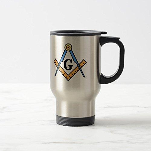 Zazzle Masonic Square Compasses Coffee Mug Stainless Steel TravelCommuter Mug 15 oz