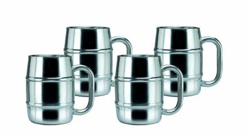 Old Dutch Keep-Kool Double Wall Stainless Steel Mug 169-Ounce Set of 4