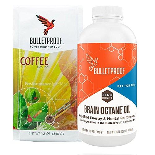 Bulletproof Intro Kit Amazon Exclusive 12oz Ground Coffee 16oz Brain Octane
