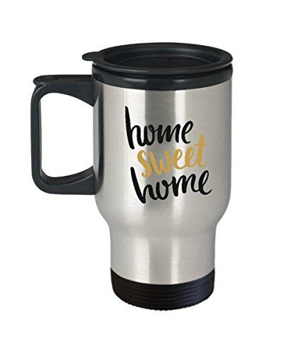 Home Sweet Home Travel Mugs - Funny Travel Mug Gifts - Porcelain Travel Coffee Mug Cute Cool Ceramic Cup Best Office Travel Tea Mug Birthday Gag G