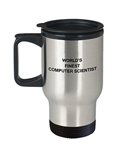 Worlds Finest Computer Scientist - Porcelain Travel Coffee Mug 14 OZ Funny Mugs