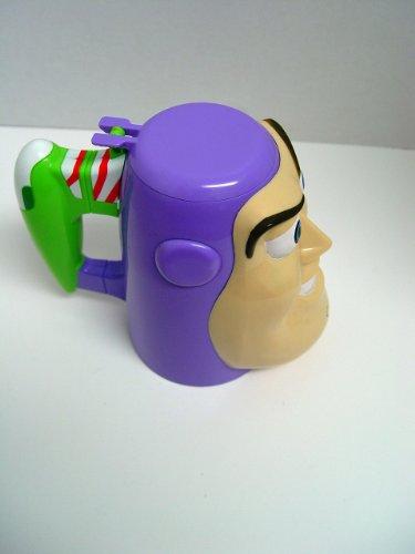 Disney on Ice Buzz Lightyear Toy Story Plastic Lidded Face Mug 65 Tall