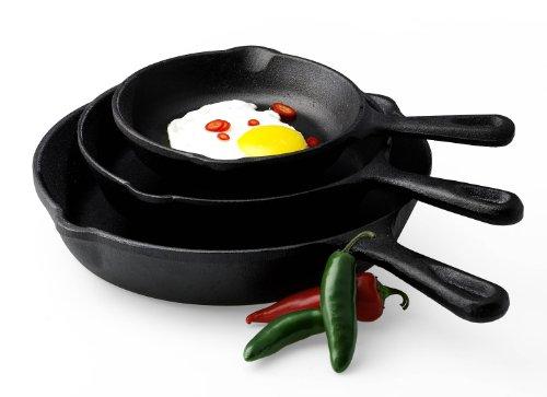 Basic Essentials 3-Piece Fry Pan Set