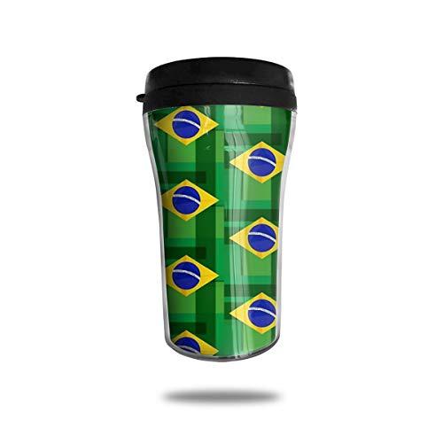Brazilian Flag Fashion Mini Travel Coffee Mug Small Tea Cup Water Bottle For Cold Hot Drinks