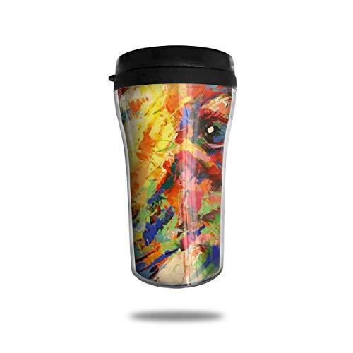 Kangaroo Painting Cute Mini Travel Coffee Mug Small Tea Cup Water Bottle For Cold Hot Drinks