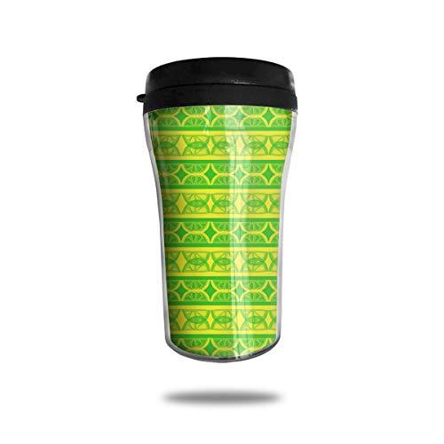 Lemon Slice Reusable Mini Travel Coffee Mug Small Tea Cup Water Bottle For Cold Hot Drinks