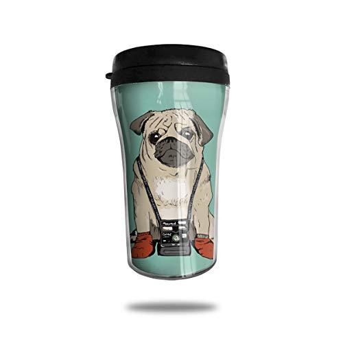 Pug Photographer Fashion Mini Travel Coffee Mug Small Tea Cup Water Bottle For Cold Hot Drinks