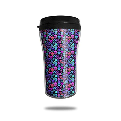 Seamless Skull Fashion Mini Travel Coffee Mug Small Tea Cup Water Bottle For Cold Hot Drinks