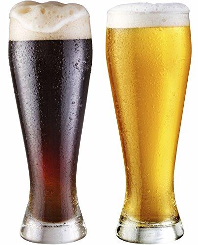 Circleware Basic Pilsner Beer Glasses Set of 4 19 oz Clear