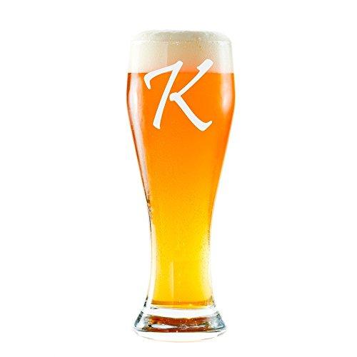 Customized Pilsner Beer Glasses - Engraved Beer Glass - Personalized Pilsner Beer Glasses - Initial - Monogram - Anniver