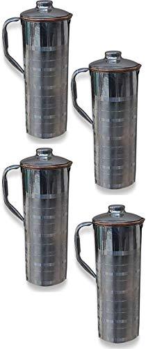 100 Pure Copper Water Pitcher Jug Set Drink Ware Ayurveda health Benefit CV-09