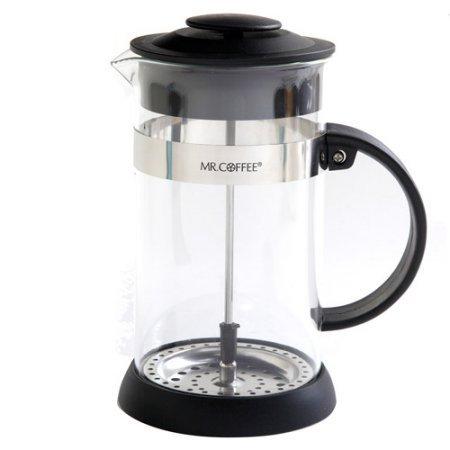 Mr Coffee Cafe Oasis 32-Ounce Glass carafe Coffee Press