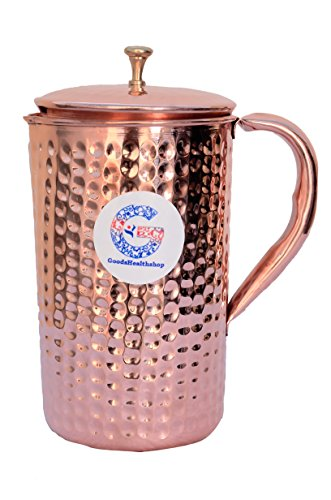 Pure Copper Hammered Water Jug  Copper Pitcher 15 lit 507 US Fluid Ounce for Ayurvedic Health Benefit By GoodsHealthShop