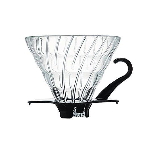 Hario V60 Glass Coffee Dripper Size 02 Black
