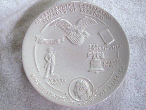 Frankoma 8 12 White Sand Bi-Centennial Plate
