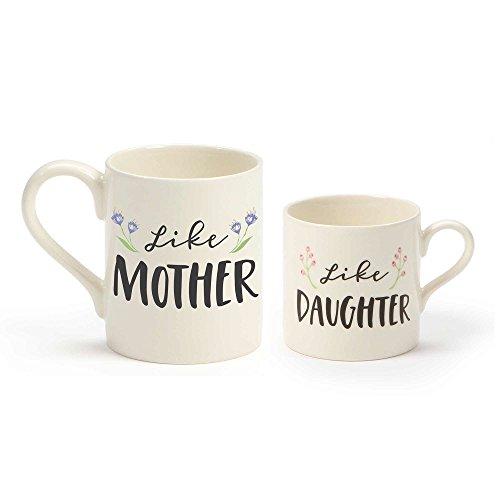 """Our Name is Mud """"Like Mother Like Daughter"""" Stoneware Mug Set 12 oz and 8 oz"""