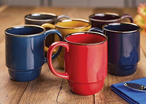 Stoneware Stacking Mugs Set of 6
