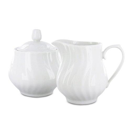 Porcelain Sugar and Creamer Set - Imperial White
