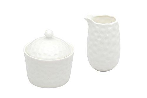 Red Vanilla Marble Covered Sugar Bowl and Creamer Set