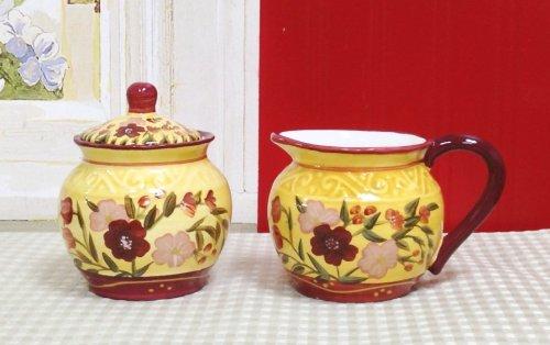 Floral Garden Sugar Bowl And Creamer