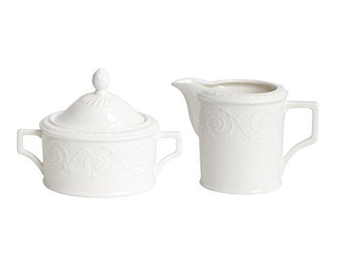 Red Vanilla Riviera Covered Sugar Bowl and Creamer Set