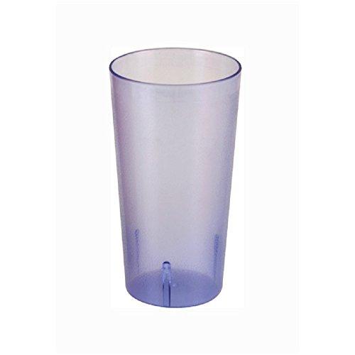 SET OF 12 CUPS 16 OZ TUMBLER POLYCARBONATE CUP BLUE UNBREAKABLE BAR SAFE DURABLE RELIABLE RESTAURANT DINER BAR GLASS