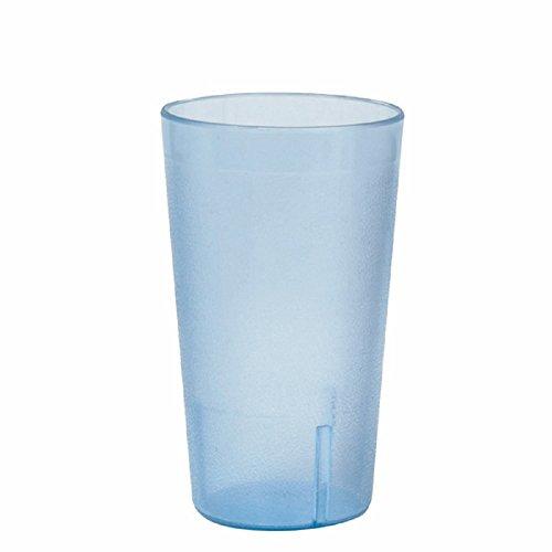 SET OF 12 CUPS 8 OZ TUMBLER POLYCARBONATE CUP BLUE UNBREAKABLE BAR SAFE DURABLE RELIABLE RESTAURANT DINER BAR GLASS