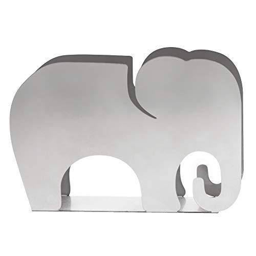 MOCOHANA Elephant Shaped Napkin Holder Stainless Steel Paper Towel Dispenser Countertop
