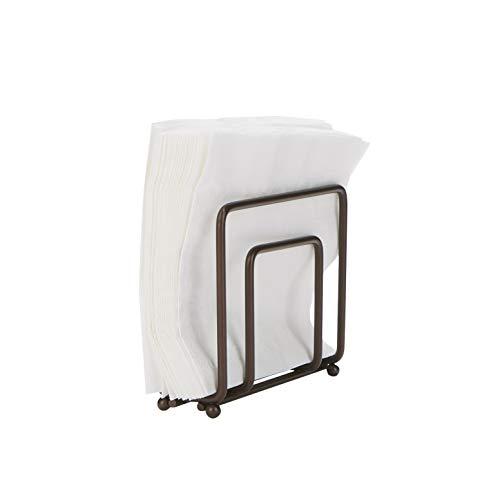 Mind Reader BRN Stainless Steel Decorative Holder Kitchenware Countertop Napkin Organizer Metallic Brown One Size