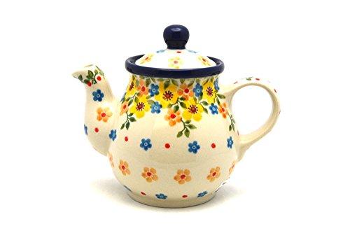 Polish Pottery Gooseneck Teapot - 10 oz - Buttercup