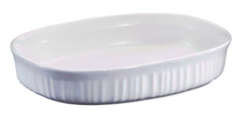 "Corning Ware ""french White"" (1.5 Qt.) Oval Casserole Baking Dish (f-6-b)"