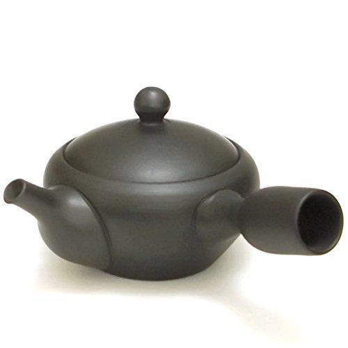 E593 black Banko south Kei ceramics garden teapot Ben Lee japan import