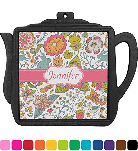 Wild Garden Teapot Trivet Personalized