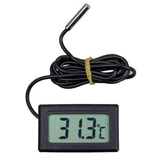 LCD Display Digital Refrigerator Fridge Freezer Thermometer Temperature 50 Below To 110C Black