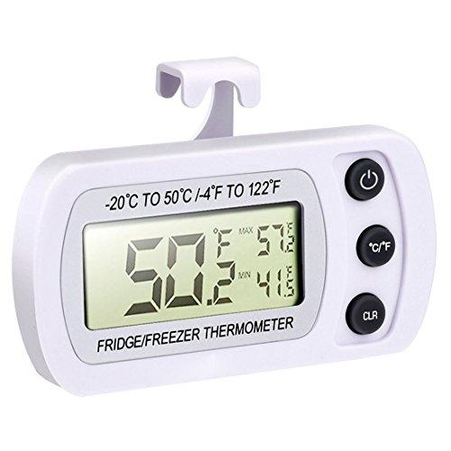TOOGOOR Wireless Digital Refrigerator Freezer Thermometer White