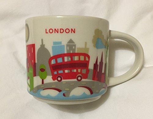 New Starbucks London You are Here Mug Coffee Cup Big Ben Gherkin St Pauls Eye Thames Tower Bridge YAH Coffee Cup
