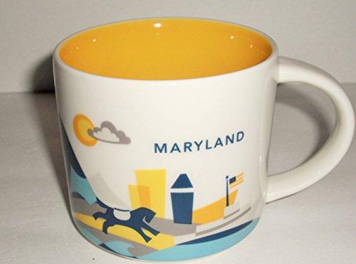 Starbucks Coffee 2015 You Are Here Collection Maryland Mug with Gift Box 14 oz