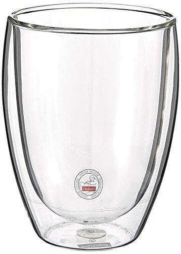 Bodum PAVINA Coffee Mug Double-Wall Insulate Glass Mug Clear 12 Ounces Each Set of 2