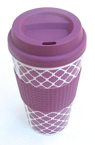 purple coffee mug double wall mug 16 oz Home decor