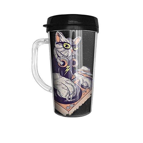 Hey Your Cute Dj Cat Glass Coffee Travel Mug Is Here