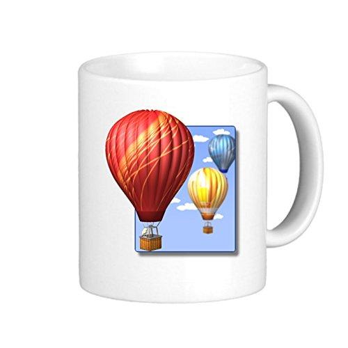 SthAmazing Hot Air Balloon Best Ceramic Coffee Mug Glass Coffee Travel Mug