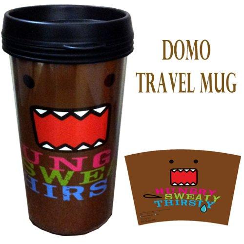 Domo Plastic Travel Coffee Mug  Hungry Sweaty Thirsty Lincense Product