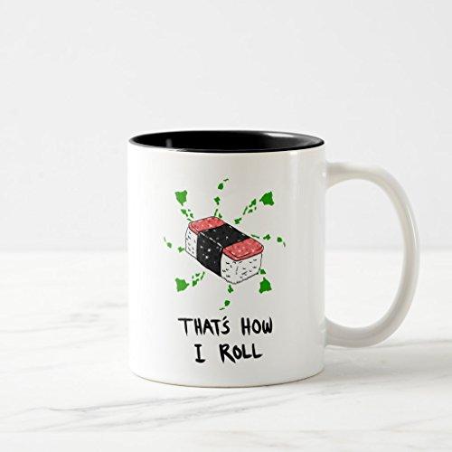 Zazzle Spam Musubi - Thats How I Roll Frosted Glass Coffee Mug Black Two-Tone Mug 11 oz