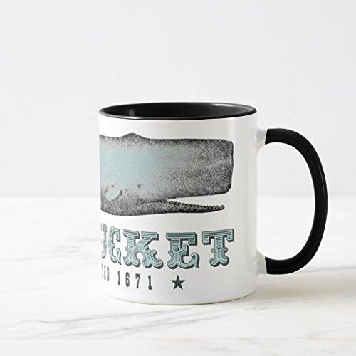 Zazzle Vintage Whale Nantucket Massachusetts Ma Inc 1671 Frosted Glass Coffee Mug Black Combo Mug 11 oz