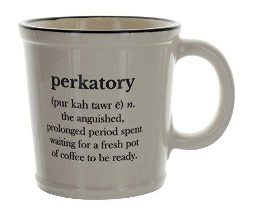 Perkatory Large Coffee Mug Beige