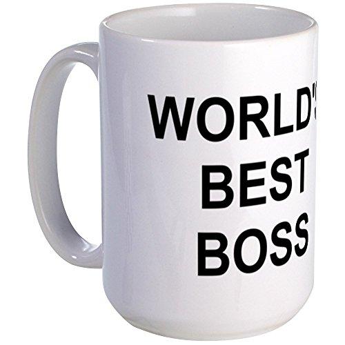 CafePress - Original Worlds Best Boss - Large Coffe Mug - Coffee Mug Large 15 oz White Coffee Cup