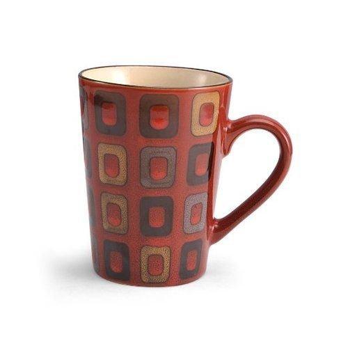 Pfaltzgraff Everyday Red Geometric Large Coffee Mug - 16 Ounces