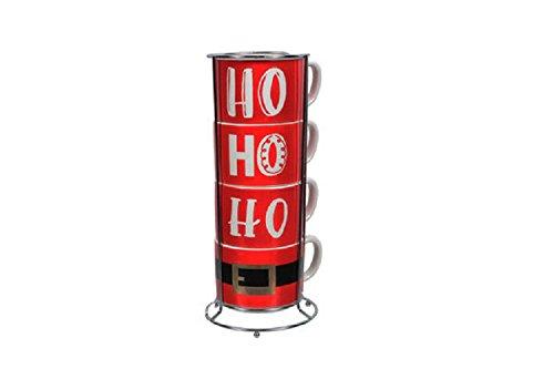 DEI 14oz Ho Ho Ho Stacking Mug Set